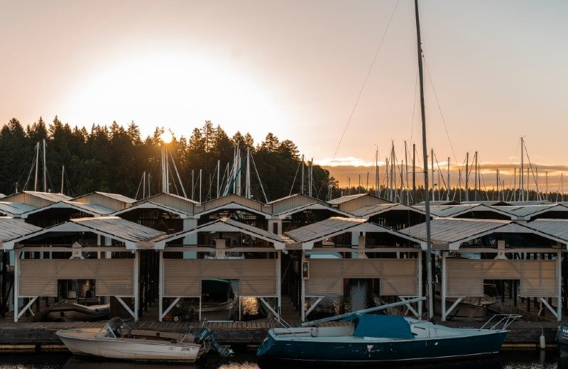 view overlooking nanaimo yacht club & newcastle island